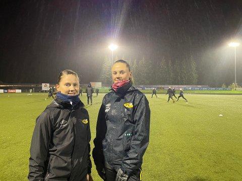 Hanna Bjørnes og Hanna Gangstad har dominert som midtstoppere for Steinkjer de siste sesongene, men i kveld måtte de se seg slått av Utleira.