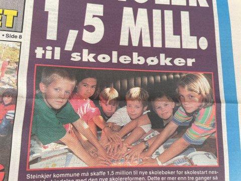 Steinkjer kommune manglet 1,5 mill. kroner til skolebøker. Det sto ikke hvem disse elevene var, men det kan være Sem skole.