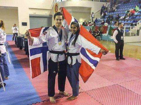 GULL: Det ble gull i EM på Joakim Wien og Nina Bansal, og de fortsetter å imponere, og begge var på pallen i Østerrike Arkivfoto
