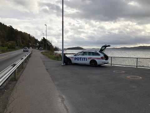 POTITIBIL: Her teipes den kommende «politibilen» av NRK Underholdning.