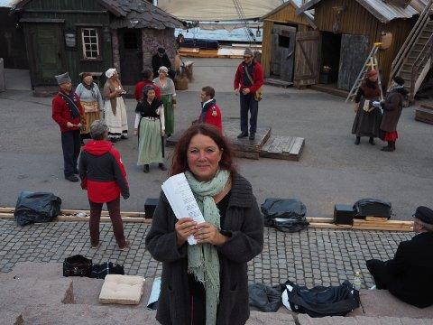 MÅLLØS: Christin Grilstad Prøis sier hun ble ordentlig lei seg da hun leste forslaget til Arbeiderpartiet om å rive Kinogården.