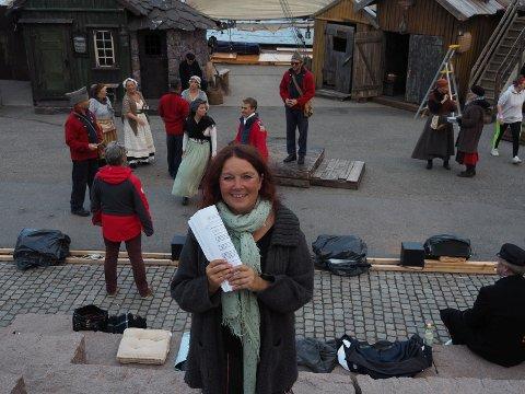Hardt arbeid: Et nærmest nytt manus betød mye øving i forkant, men manusforfatter Christin Grilstad Prøis ble svært fornøyd med sluttresultatet.