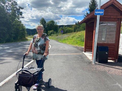 Fra Markveien pleier Laila Pedersen å ta bussen til sentrum. Ifølge henne, rakk hun ikke å sette seg før bussen kjørte. Det skal ha endt opp med et fall, blåmerke på brystet og kul i hodet, i tillegg til mer smerter i hofta.