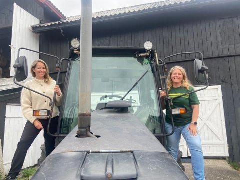 Mari Tandberg (til venstre) og Ingrid Sand Ekeberg skal lede rehabiliteringen på Nedre Eik Gård.