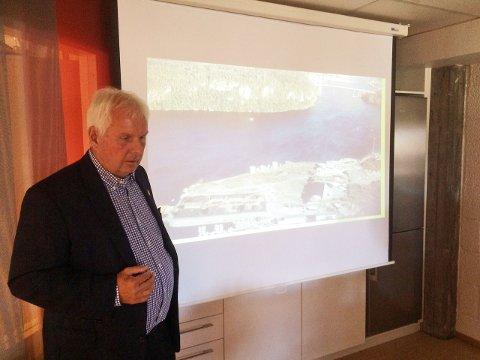 LANG PROSESS: Daglig leder i BioGren AS Arne Myhrvold la frem planene for Skjerkøya i august 2015. Det har vært tungt å finne finansiering.