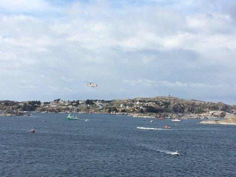 Et helikopter har styrtet ved Turøy utenfor Bergen fredag ettermiddag.
