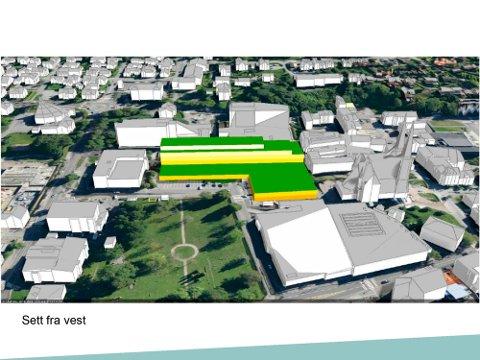VISE HØYDER: Skien kommune laget 3D-illustrasjoner av utbyggingen på Lie til førstegangsbehandlingen, men legger fram nye til møtet i hovedutvalget neste uke.