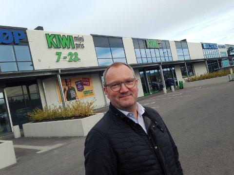 RETT PLASS: - Kjørbekk ved Biltema er rett sted for Grenlands nye vinmonopol, mener Hans A. Rønning i Kjørbekk & Rødmyr interesseorganisasjon.