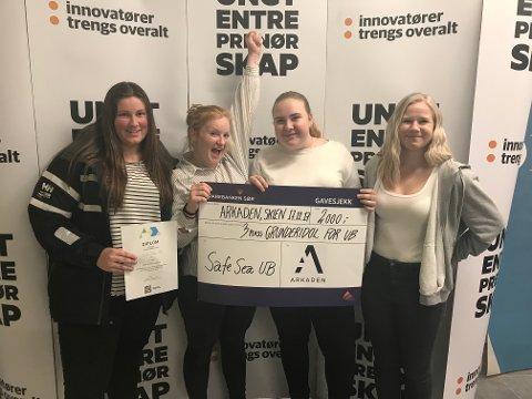 TREDJEPLASS: Safe Sea UB fra Kragerø videregående skole tok tredjeplassen.