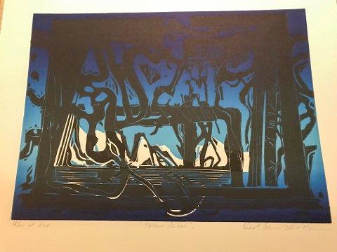 """Stjålet: """"Polar fabel"""" av Kurt Edvin Blix Hansen er et av de tre stjålne litografiene."""