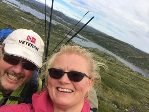 Kjetil Karlsen og Aina Kaupang er prosjektledere for russeturen til Hardangervidda. Nå har DNT blitt med som arrangør. Foto: Privat