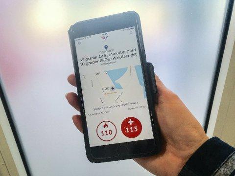 VERDIFULLE SEKUNDER: Du kan ringe direkte til 113 og 110 via appen. Da blir posisjonen din sendt automatisk til nødsentralen.