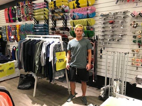 VEMODIG: Daglig leder ved Session Herkules, Christer Kullbeck, syns det er vemodig at skatebutikken legger ned.