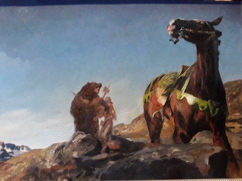 PÅ AUKSJON: Dette bildet har kunstneren Eivind Venheim donert til auksjonen.
