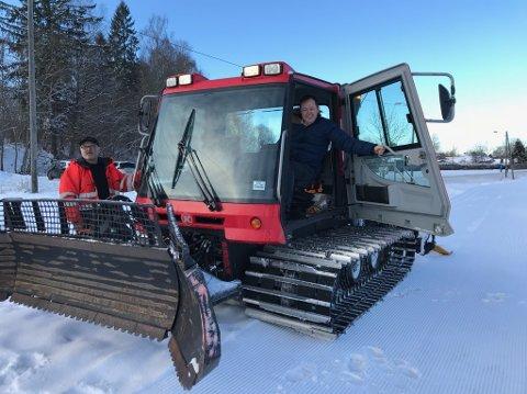 FLÅTTENJORDET: Stridsklevs populære skilekområde har fått sesongens første skiløyper.