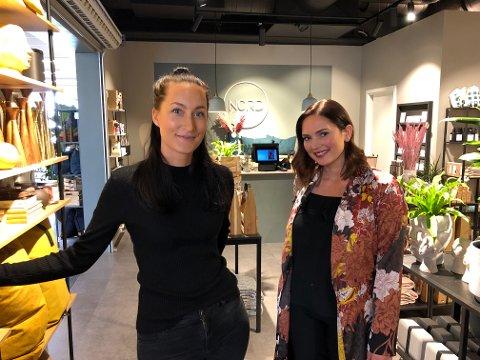 GIR SEG: Maren Kastet (til venstre) og Christine Myhra Kihle, som eier og driver Nord Interiør AS på Arkaden, har fått mange støtteerklæringer etter at de meldte om nedleggelsen på Instagram og Facebook.
