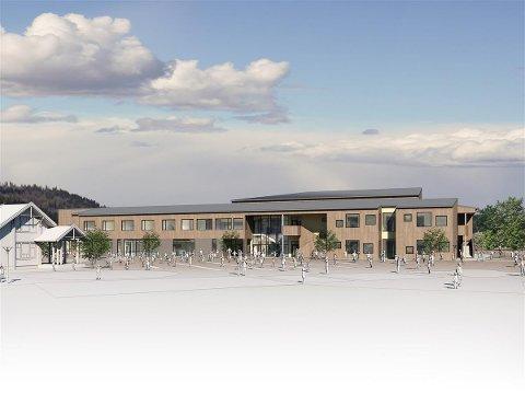 SLIK: Slik skal etter planen den nye barne- og ungdomsskolen i Sauherad se ut.