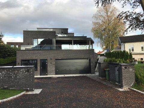 ENEBOLIG: Rikard Nordraaks gate er nominert til Byggeskikkprisen. Eneboligen er tegnet av Børve Borchsenius arkitekter.