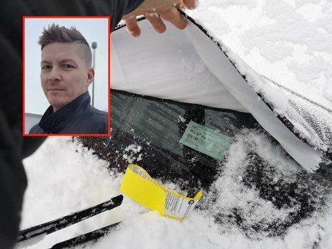 BOT-ROT: – Det så ikke ut som at de ikke hadde prøvd å løfte på beskyttelsesduken i det hele tatt, sier Per-Espen Løchen. Foto: Privat