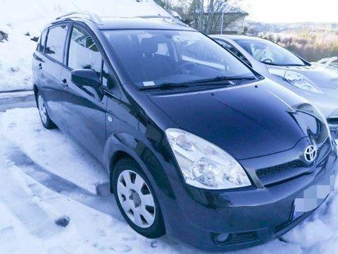 STJÅLET: Denne bilen ble stjålet av en bilmekaniker, mens den var inne på service. Da han ble stanset skal han ha hatt 2,1 i promille. Foto: Privat