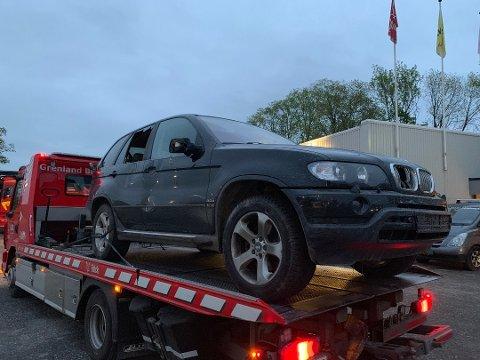 HAR TILSTÅTT: En 45-åring fra Skien har tilstått at han  villmannskjørte med denne bilen i Porsgrunn og Skien mandag kveld.