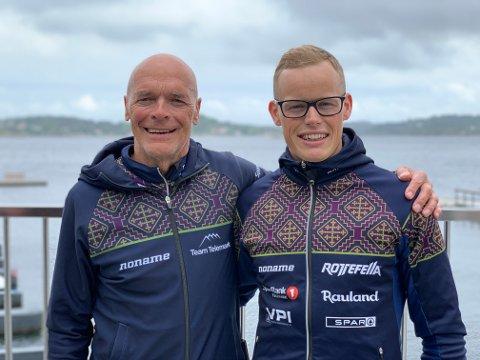 FORLENGER: Steinar Mundal har bestemt seg for å fortsette som trener i Team Telemark. Det er Mikael Gunnulfsen glad for. Foto: Team Telemark