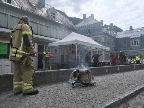 BRANN: Det var denne frityrgryta som utløste full brannalarm på Rjukan.
