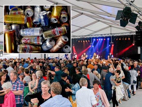 Seljordfestivalen var fra 3-7 juli i år, nå mangler de til sammen 52 poser med tomgods. Bildet av tomflaskene er et illustrasjonsfoto.
