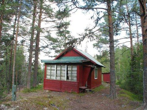 INNGANGSBILLETT: Denne hytta har en prisantydning på 150 000 kroner og trenger mye kjærlighet.