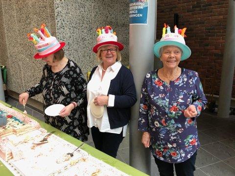 Åpningsfest: Åpningen av Porgsrunn Arena ble feiret med kake.
