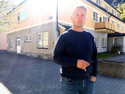 FORNØYD: Daglig leder ved Skarpenord Egil Kjeldsen.