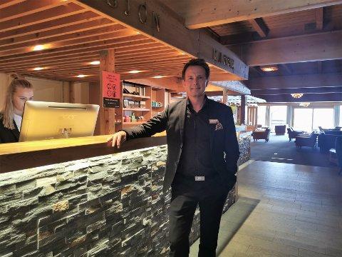 BLIR KJENT: John Kristian Stubban, nyansatt hotelldirektør på Gaustablikk, holder fortsatt på å bli kjent på hotellet sitt.