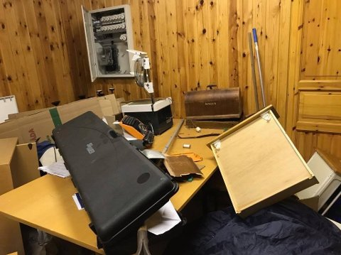 ROT: Dette er bare noe av kaoset som ble møtt av Skytterlaget og Idrettslaget tirsdag ettermiddag. Foto: Privat
