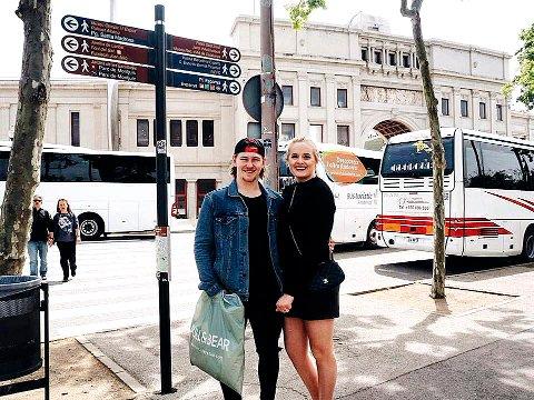STOCKHOLM NESTE: Christian Kåsastul tar med seg kjæresten Martine Halvorsen til Sverige. Foto: Privat