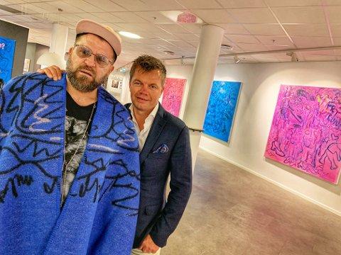 MYE FØLELSER: Det ligger mye følelser i maleriene til Bjarne Melgaard, som har en prislapp fra 80 000 og opp til en halv million kroner per stykk.