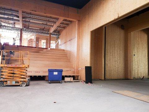 HJERTET AV SKOLEN: Den nye Kultursalen blir hjertet av den nye skolen.