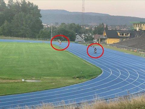 REAGERER: Altfor mange kjører el-sykkel på friidrettsbanen til Herkules. Nå kommer de med en klar oppfordring.