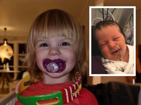 STØRESØSTER: Sofie (2) og nyfødte Mie må dele bursdager framover.