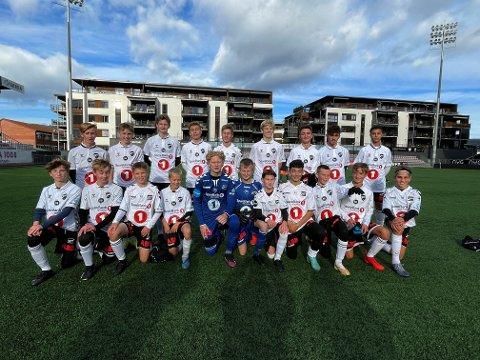 MARKERTE SEG: Gutta på Odd-laget markerte seg på NTF Elitetiltak for G13-lag da de tok seg til finalen, men tapte der knepent 2-3 for Rosenborg.