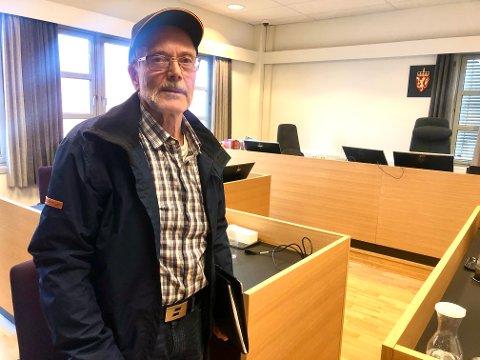 «Skrekkopplevelse»: Tirsdag var Kjell Askersrud (78) i retten for å forklare seg om hva som skjedde da naboen han angrep han mens han satt i bil på Drangedalsvegen i fjor.