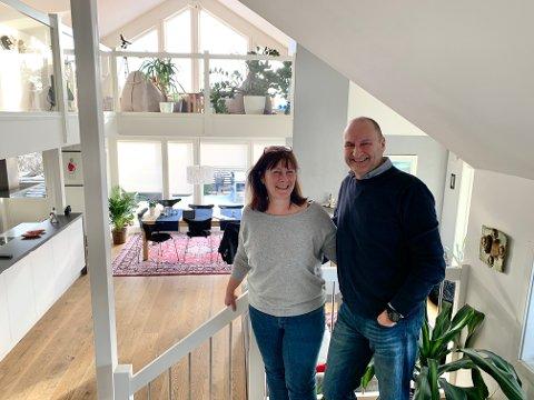 NYTT OG MODERNE: Elisabeth og Trond har transformert eneboligen fra 70-tallet til et nytt og moderne hjem.