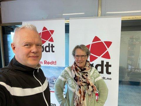 NEDSTEMT: Politiker Rune Mathisen, her med Inger Christensen, fikk ikke resten av kontrollutvalget med seg.