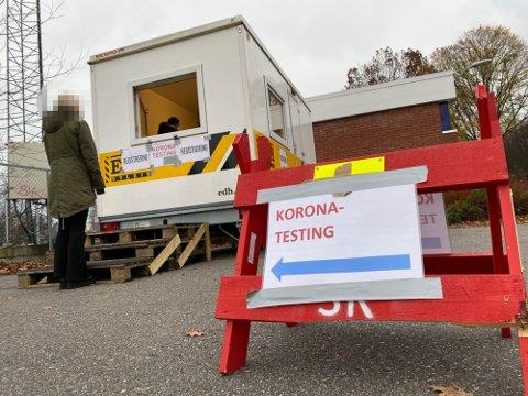 SANDEFJORD: Mange reiser fra Grenland til Sandefjord for å teste seg for korona.