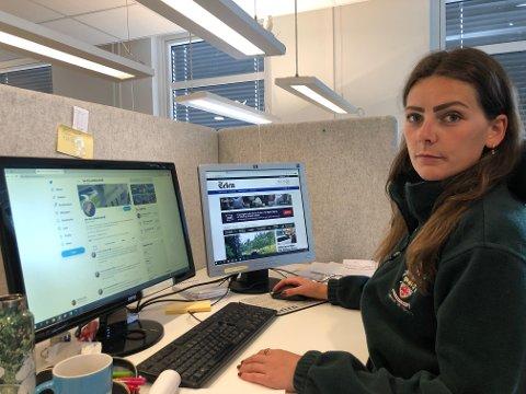 KRENKET: Journalist Kristine Kivle ble krenket med skjellsord og fratatt notatblokka som ble kastet på Heddalsvannet. Forholdet blir anmeldt.