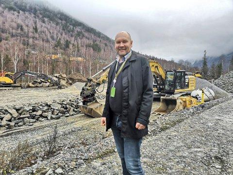 NYE EIERE: Green Mountain- selskapet direktør Tor Kristian Gyland leder - får nye eiere.   - Det blir ingen organisasjonsendringer og selskapet vil fortsatt være norsk, sier Gyland til RA. Her fra et tidligere besøk på avdelingen på Rjukan.