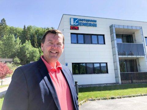 HØYE PRISER: - Det er bare å forberede seg på høye strømpriser denne høsten og vinteren, sier konserndirektør   i Notodden Energi, Runar Lia.