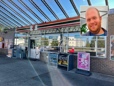 TILGITT: Hendelsen i 7-Eleven i Storgaten preget Martin Lindgren i flere dager. Nå har han tilgitt den ansatte. Foto: Arianit Selmani/ Mauricio Evensen
