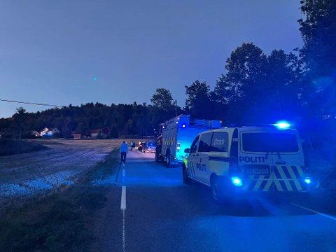 KJØRTE AV VEIEN: Mannen ble funnet livløs av vitner. FOTO: Lise Lotte Nyrud