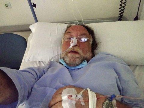 I SYKEHUSSENGA: Slik endte det for Tore Johnny Dale i sykehussenga.