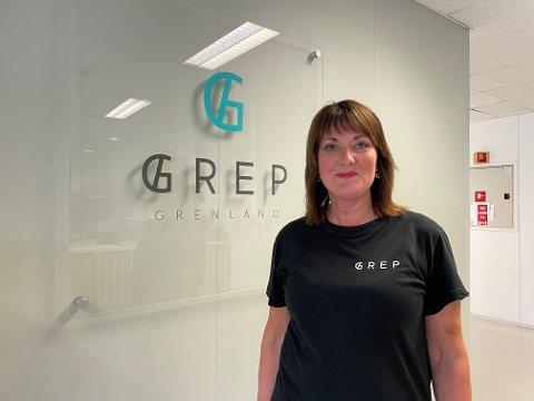 LEDER: Julia Lindland er daglig leder i Grep Grenland AS. De har gått fra et millionunderskudd til et millionoverskudd.